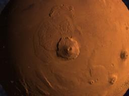 火星のオリンポス山 ちょっとズーム
